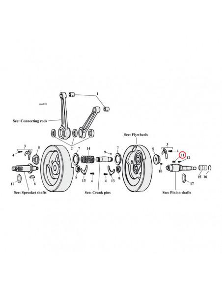 Registri ruota posteriore cromati