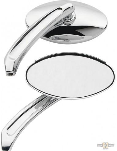 Specchietti ovali cromati