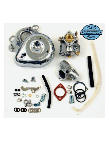 Carburatore S&S Super E - kit completo per FXR, Dyna, Softail e Touring dal 1993 al 1999 (eccetto a iniezione)