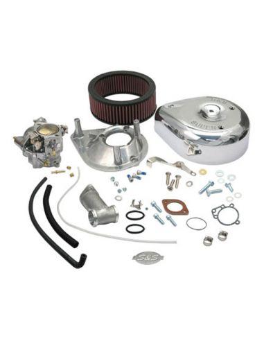 Carburatore S&S Super E - kit completo per modelli Panhead e Knucklehead dal 36 al 65 con paraolio aspirazione O-ring
