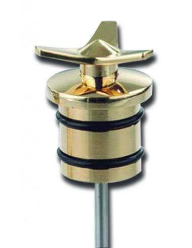 Tappo serbatoio olio Spinner in ottone con astina stile