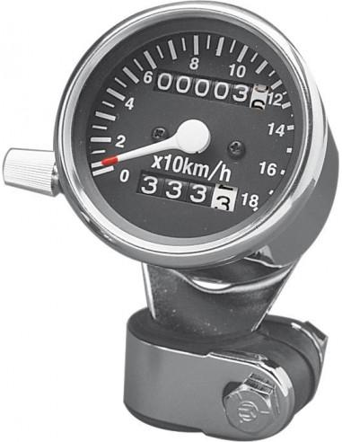 ContaKm diametro 60mm rapporto 2:1 con azzeratore e scala 180 KM/H