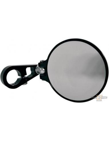 Specchietto da manubrio nero circolare 3'' 1/4