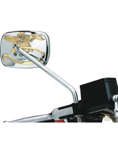 Specchietto Live to Ride cromo-dorato
