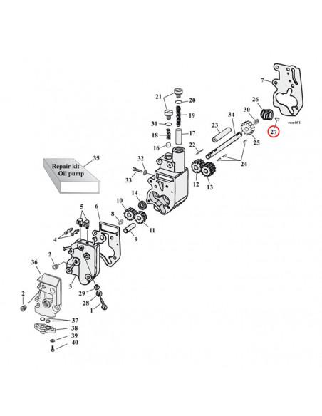 Registri ruota posteriore cromati Per Sportster e K dal 54-78
