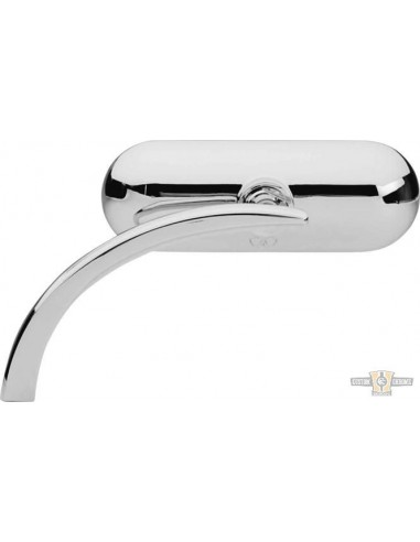 Specchietto Mini Oval destro cromo