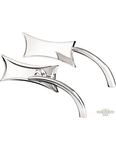 Specchietto Ness Tech Quattro punte sinistro cromo