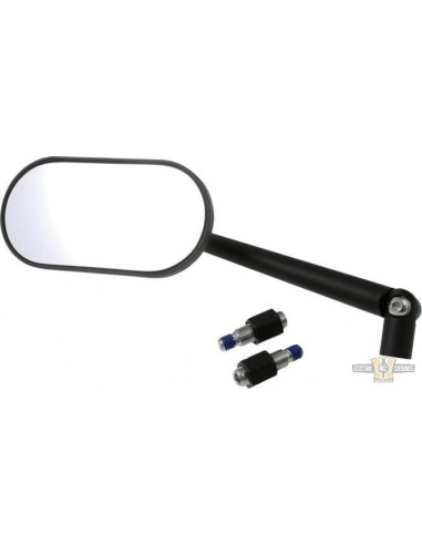 Specchietto ovale Agila nero