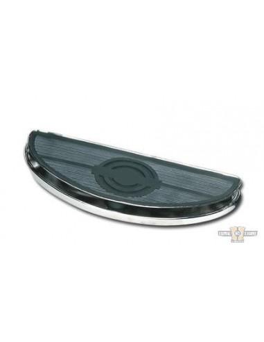 Pedane ovali guidatore ammortizzate cromate