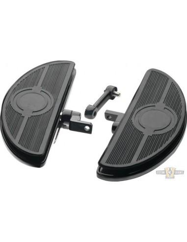 Pedane ovali regolabili guidatore con antivibrazioni nere