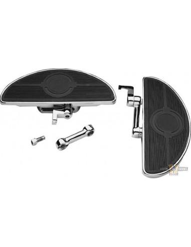 Pedane ovali regolabili guidatore con antivibrazioni shaker cromate
