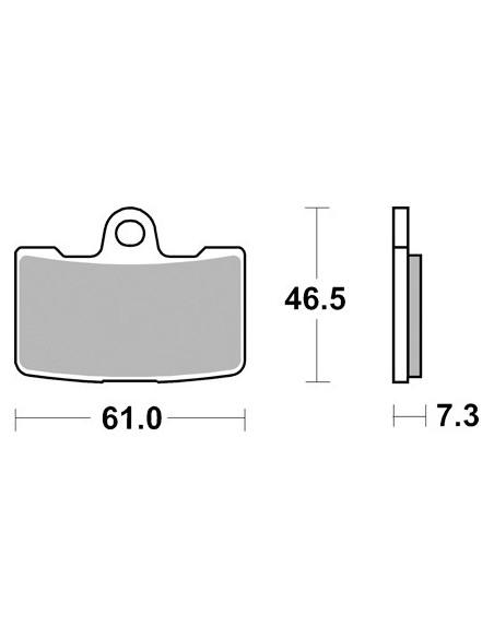 Specchietto Curvaceous basso gambo angolo DX NERO