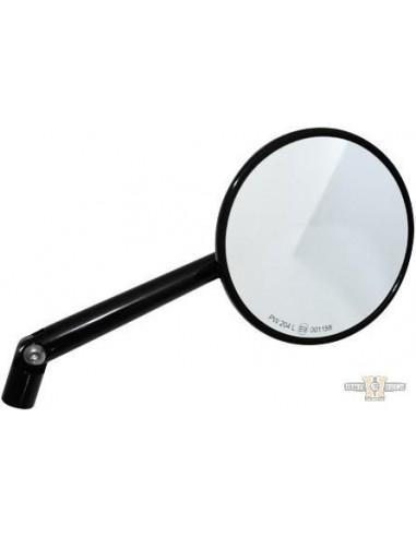 Specchietto rotondo nero Omologato