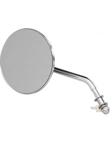 Specchietto tondo da 10 cm sinistro stelo corto cromo