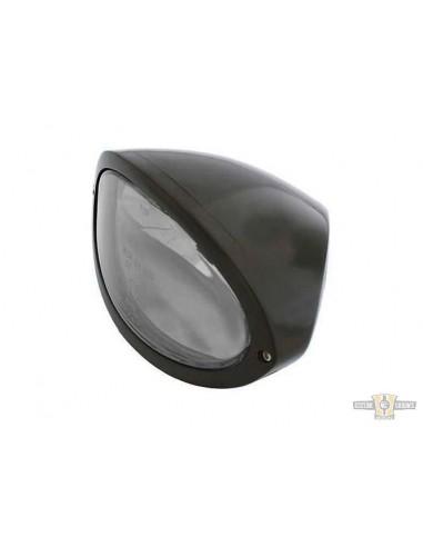 Faro anteriore Ovale con lampadina H4 omologato - nero