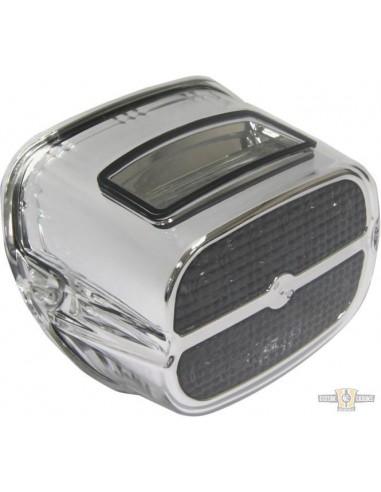 Faro posteriore luce LED - guscio cromato - lente fumè