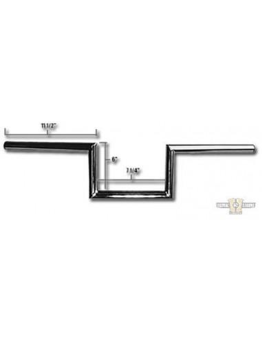 """Manubrio Speedster in line 1"""" L 91cm crom, senza fosse,- per Springer WL"""