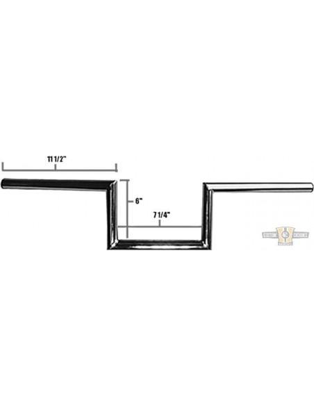 "Manubrio Speedster in line 1"" L 91cm nero, senza fosse,- per Springer WL"