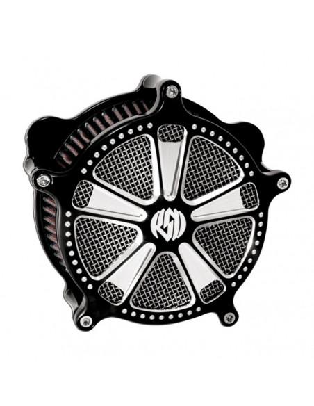 Filtro aria S&S nero e cromo