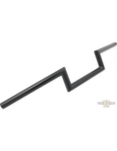 """Manubrio T Bar pullback 1-1/4"""" alt 10"""" L 76cm crom, acc elettr, forato,"""