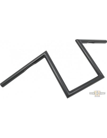 """Manubrio T Bar pullback 1-1/4"""" x 6"""" L 77cm nero, acc elettr, forato,"""
