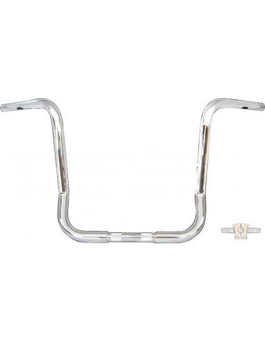 """Manubrio T Bar pullback 1-1/4"""" x 12"""" L 76cm crom, acc elettr, forato,"""