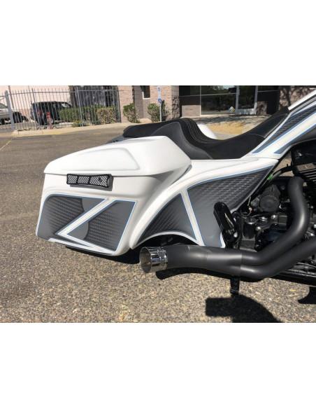 Parafango anteriore Cult Werk Bobber nero lucido per Sportster Forty Eight dal 2010 al 2019