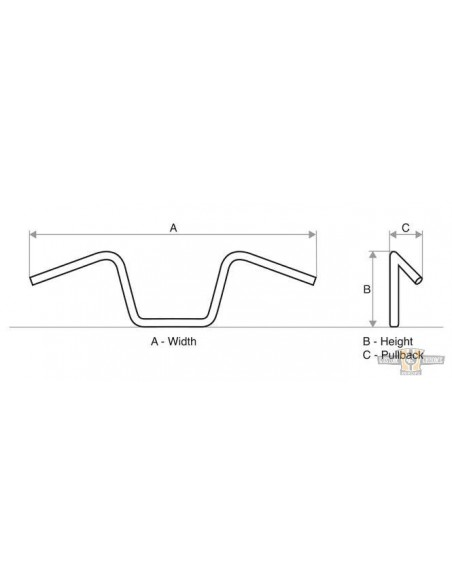Kit sollevamento serbatoio benzina 4 cm Per Sportster dal 1995 al 2020