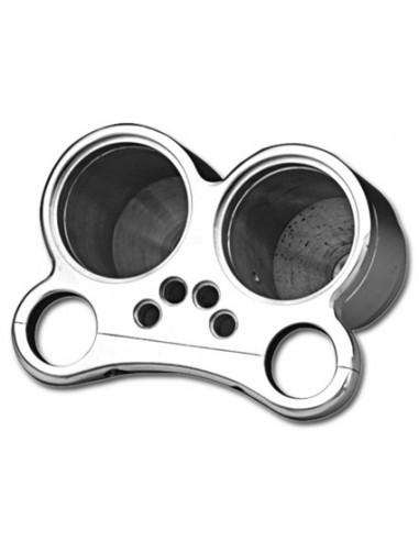 Supporto strumento 2 Micro Mini da 48mm per T-Bar con fori per spie