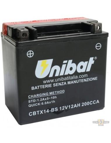 Batteria UNIBAT CBTX14-BS BUELL