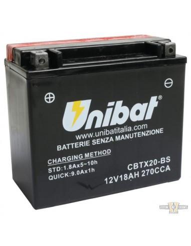 Batteria UNIBAT CBTX20-BS SPORTSTER