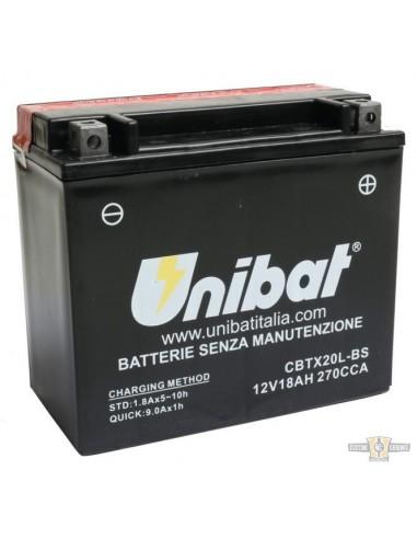 Batteria UNIBAT CBTX20L-BS SOFTAIL